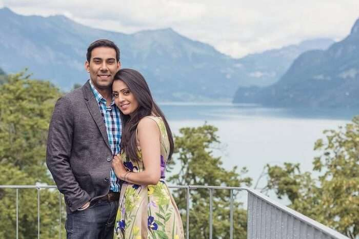 Honeymoon couple in Interlaken