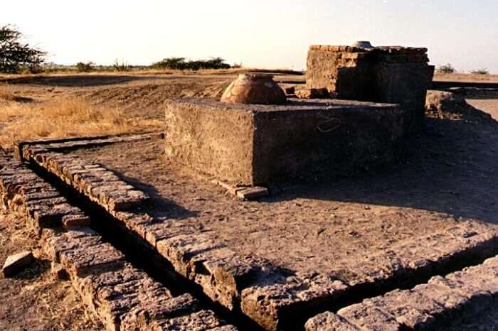 Ruins of the ancient Indian city of Lothal in Gujarat