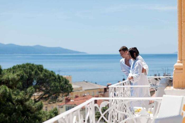 Honeymoon couple in opatija