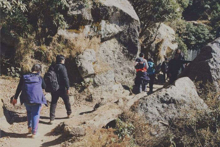 priyanka trekking with friends