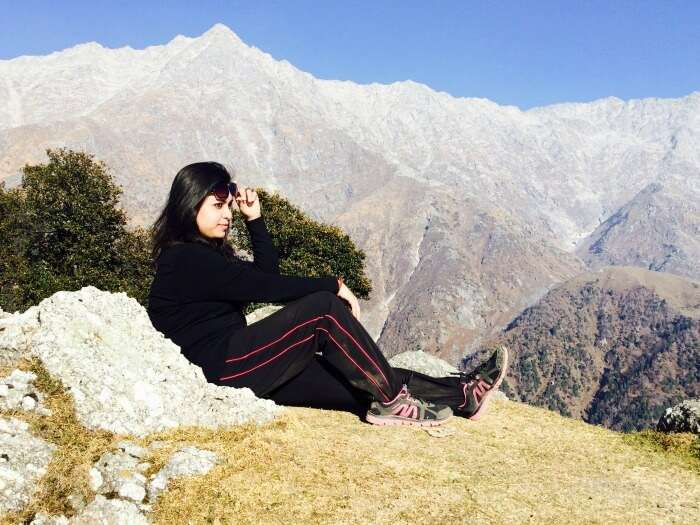 scenic morning in triund