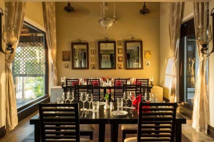 Small & cozy restaurant at Sol De Goa