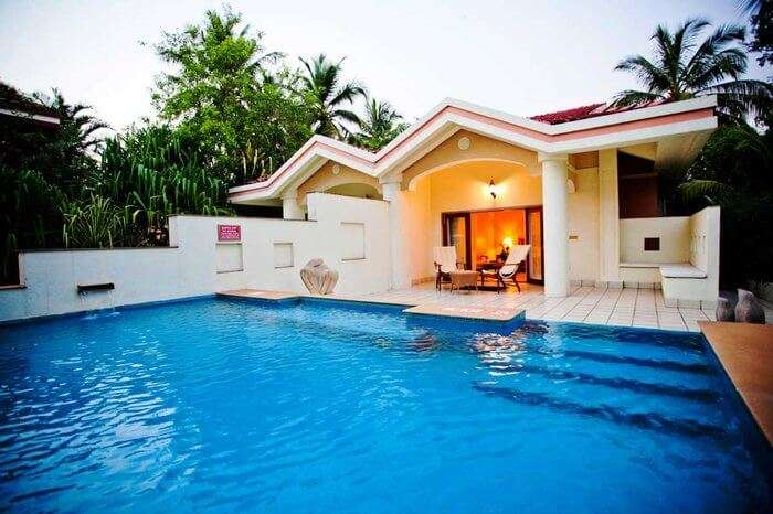 Taj exotica private pool