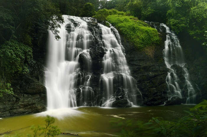 A beautiful shot of the Abbey waterfalls in Madikeri