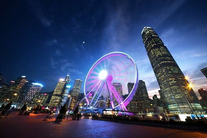 Night view of Hong Kong Skyline