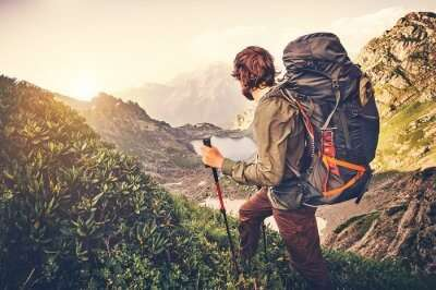 An adventurer takes on a trekking adventure in India
