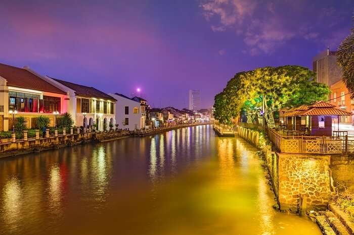 Malaysia Skyline on the Malacca River