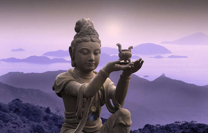 Buddhist statue in Hong Kong