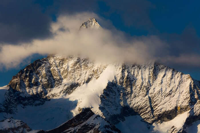 Sunrise on Weisshorn in Zermatt