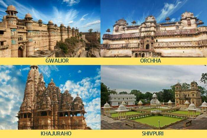 A tour of the historical sites in MP covering Gwalior – Shivpuri – Orchha – Khajuraho