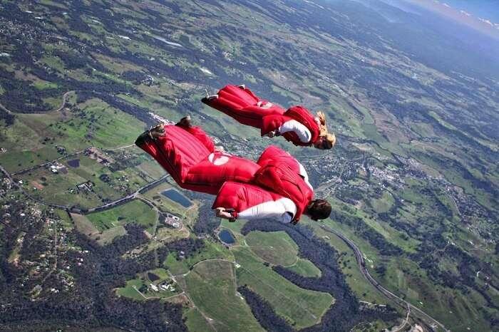 Wingsuit Flying In Spain