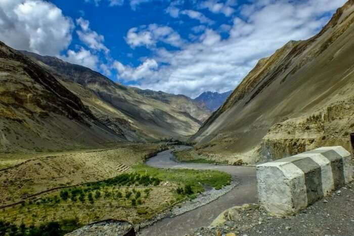 Farming area in one of the villages in Spiti