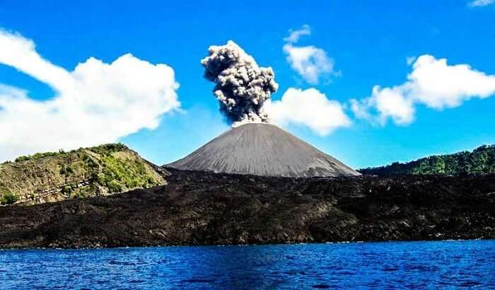 Active volcano in Andaman Islands