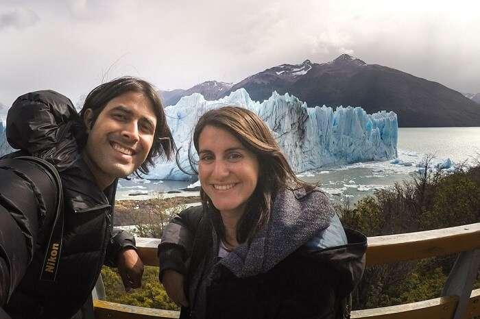 Ashray & Zara at Perito Moreno Glacier