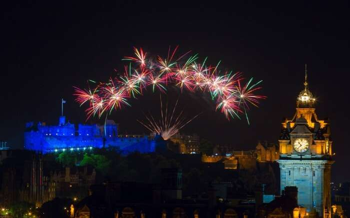 Fireworks during Edinburgh International Festival