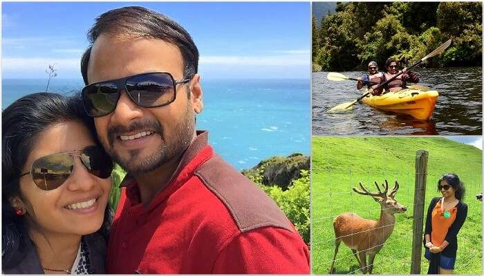 Harsh and his wife on their honeymoon in New Zealand