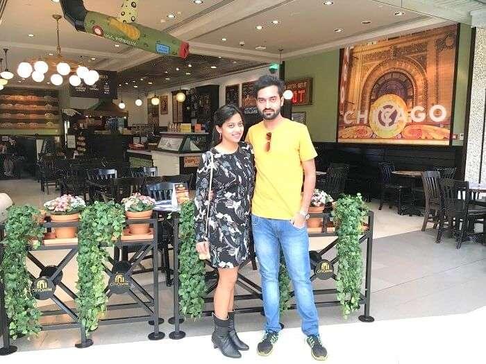 Siblings in Dubai mall