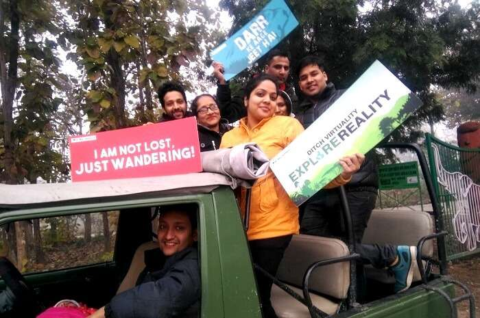 Ready for the safari in Jim Corbett