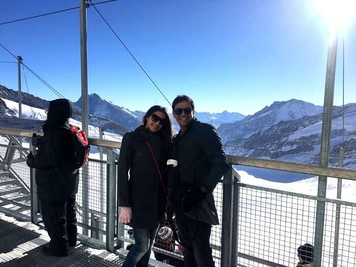 at jungfraujoch in switzerland