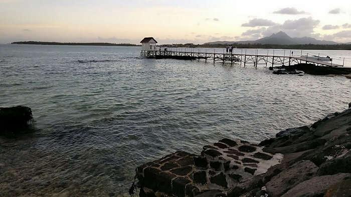 scenic pier in mauritius