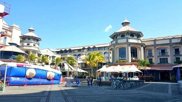 le caudan waterfront in mauritius