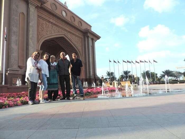 Family in Abu Dhabi