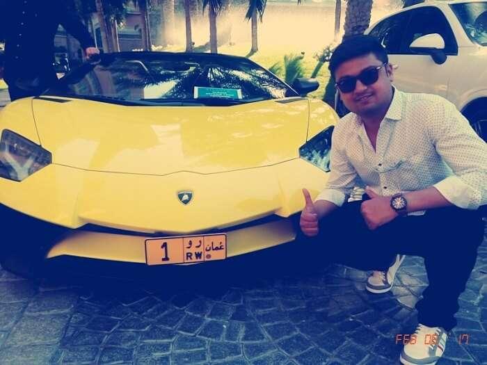 Car display in Dubai