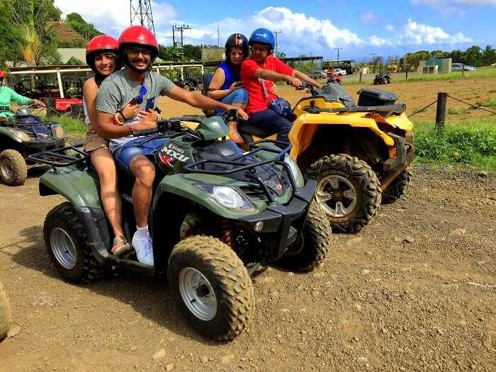 Quad biking tour in mauritius