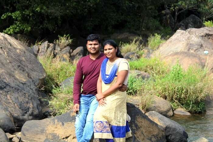 Sharan and his wife in Munnar
