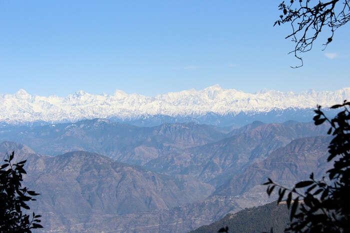 snow capped peaks of uttaranchal