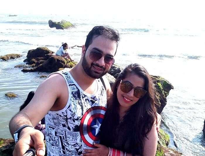Couple visiting Goa