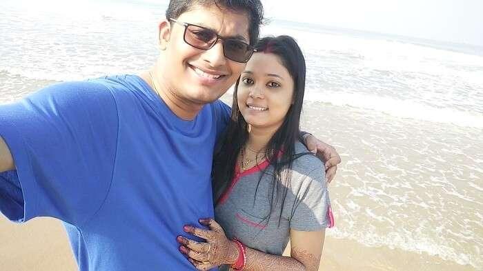 Couple in Baga beach