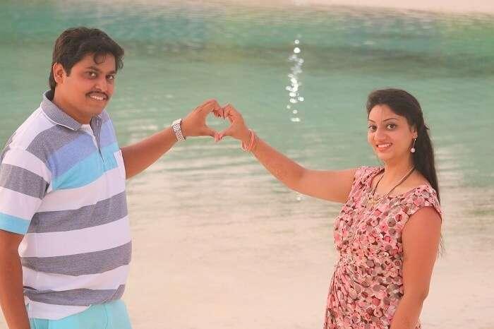Travelers enjoying Maldives