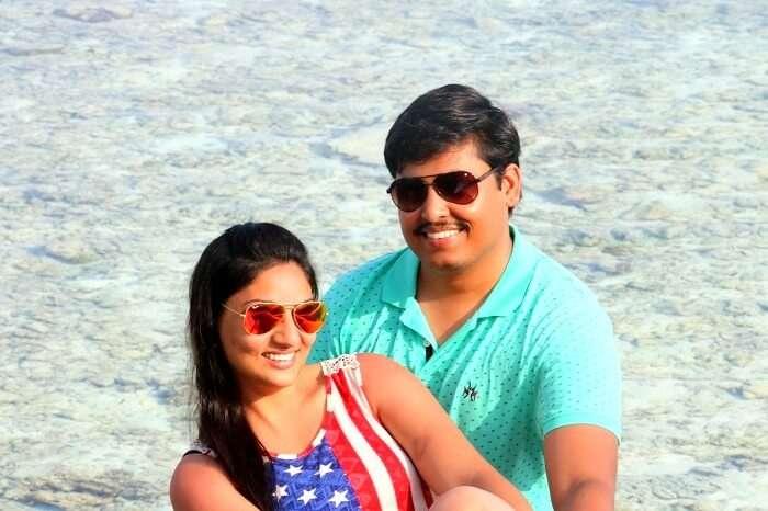 Travelers in Maldives