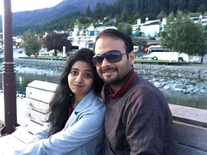 Harsh and his wife sightseeing in Queenstown