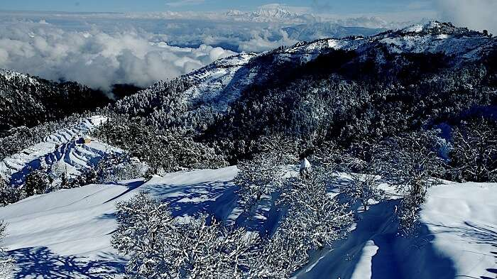 snowfall in Kanatal