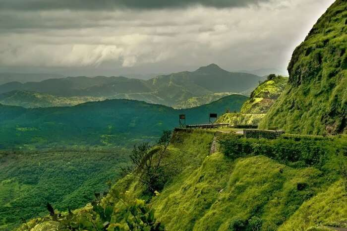 Panoramic landscapes of Lonavala