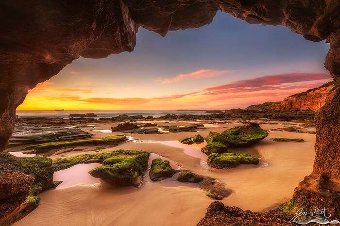 Romantic Cave Beaches Sydney