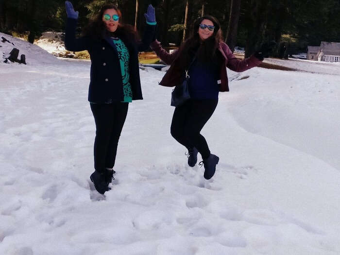 Play with snow in Dalhousie