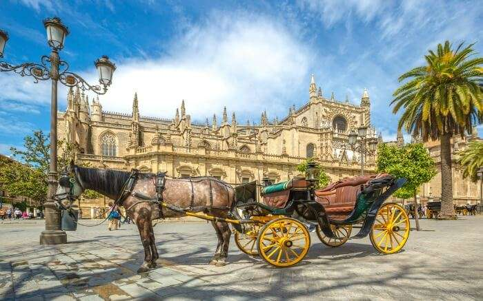Horse-drawn carriage in Seville