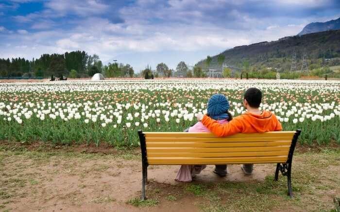 A couple in Srinagar
