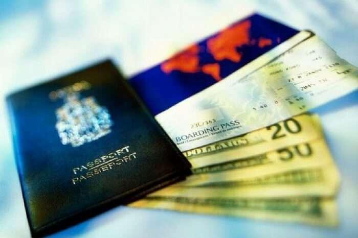 Mauritius passport and ticket