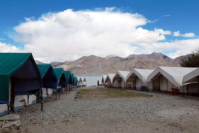 A tourist camp near Pangong lake