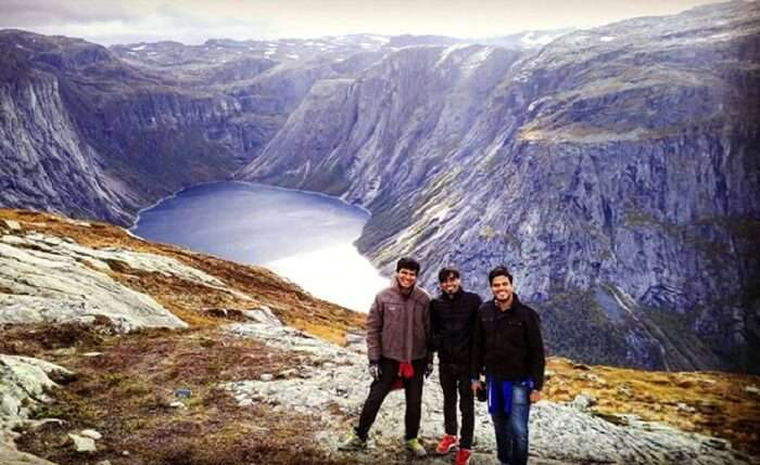 Prashant and his friends in Norway
