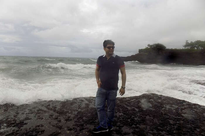 Cloudy day at Tanah Lot Temple