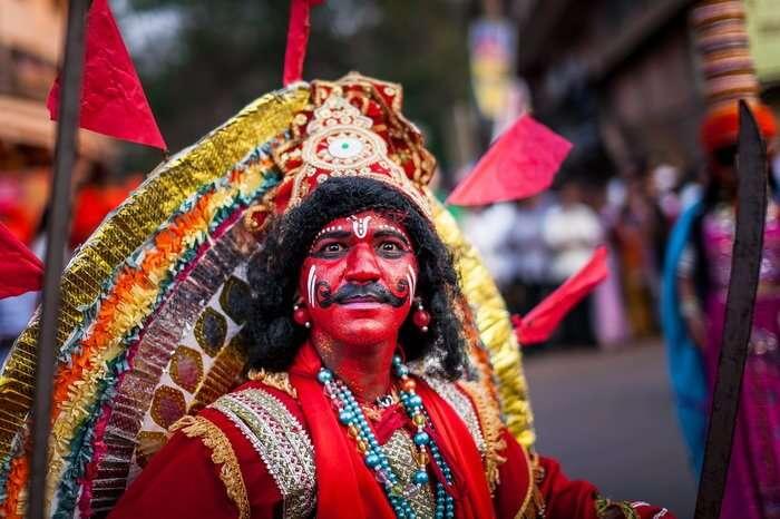 a man performing in Shimotsav Goa