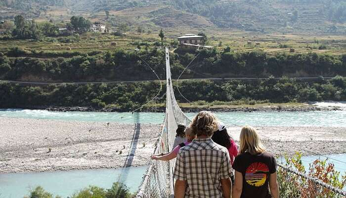 suspension bridge in bhutan