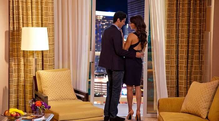 Romantic Couple at The MGM Grand