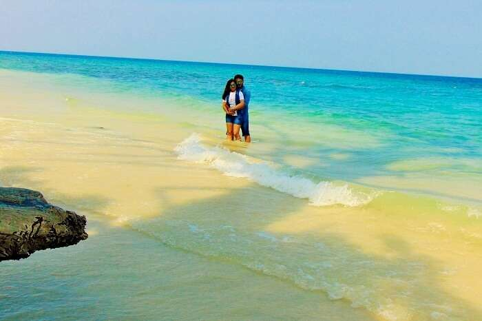 couple at the beach in Andaman