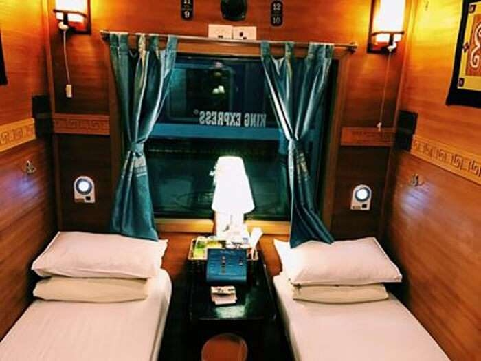 Luxurious cabin in train to Sa Pa valley